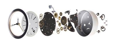 Baute die Uhr auseinander Stockbild