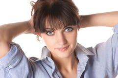 bautiful χαμόγελο brunette στοκ εικόνες