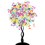 Bautiful floral tree Royalty Free Stock Image