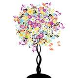 Bautiful floral tree. Illustration Royalty Free Stock Image