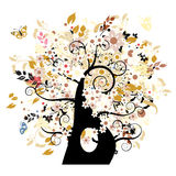 Bautiful floral tree Royalty Free Stock Photo