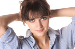 Bautiful smiling brunette Stock Images
