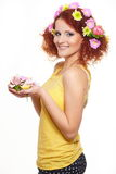 Bautiful smiling redhead ginger woman Royalty Free Stock Image