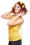 Bautiful smiling redhead ginger woman Royalty Free Stock Images