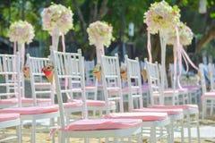Bautiful wedding set up on the beach Royalty Free Stock Photo