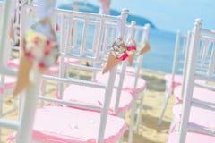 Bautiful wedding set up on the beach Royalty Free Stock Photography
