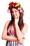 Bautiful woman with tulip hair decoration Stock Image