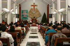 Bautizado en iglesia católica Imagen de archivo libre de regalías
