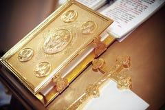 Bautizo en la iglesia Imágenes de archivo libres de regalías