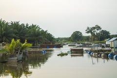 Bauty av det Buluh Cina Kampar tillståndsRiau landskapet royaltyfri bild