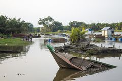 Bauty av det Buluh Cina Kampar tillståndsRiau landskapet arkivfoto