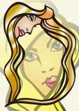 bauty kvinnor för hårillustration s Royaltyfri Foto