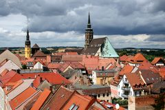 Bautzen. Is famous for its historical town centre and its medieval towers Stock Image
