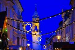 Bautzen bożych narodzeń rynek Fotografia Royalty Free