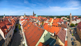 Bautzen city in Germany panorama Royalty Free Stock Photos