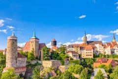 Bautzen gammal stad arkivfoto