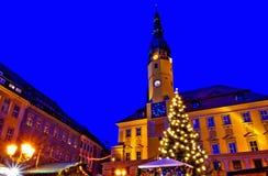 Bautzen Kerstmismarkt Stock Foto's