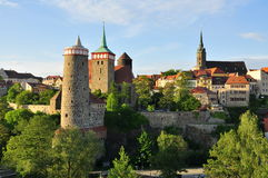 Bautzen - la Saxe, Allemagne - par coucher du soleil Photos libres de droits