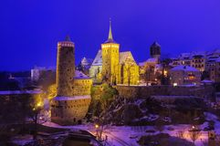 Bautzen night winter Stock Photography