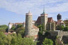 Bautzen Panorama royalty-vrije stock foto