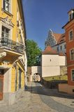 Bautzen, Saxony, Germany - burg alley Royalty Free Stock Photo