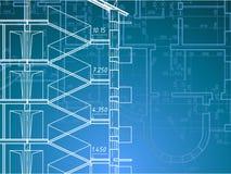 Bauunternehmen-Plan Stockfoto