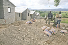 Bauunternehmer, Cabarete, Dominikanische Republik stockfoto