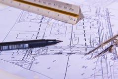 Bauvorhaben-Bauvorhaben Stockbilder