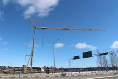 Bauvorhaben in Luleå Stockbilder