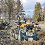 Bauvorhaben in Luleå Stockfotos