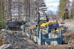 Bauvorhaben in Luleå Stockfoto