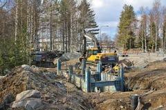 Bauvorhaben in Luleå Lizenzfreie Stockfotografie