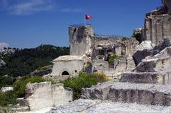 baux城堡de法国les普罗旺斯 库存照片