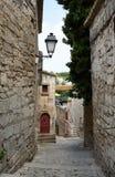 baux缩小的街道村庄 库存图片