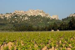 baux замок de les Провансаль Стоковое Изображение