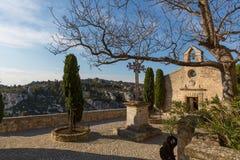 Baux de普罗旺斯教堂1 免版税图库摄影