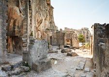 baux de fästning france provence Royaltyfria Bilder