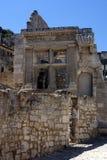baux de les普罗旺斯罗马废墟 图库摄影