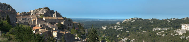 Baux de provence - France. Panorama of Baux de Provence (France) - typical Village in the South of France Stock Photo