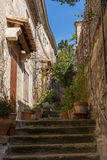 Baux de Provence stairs Stock Photography
