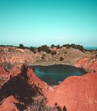 Bauxite cave - Otranto, South Italy stock image