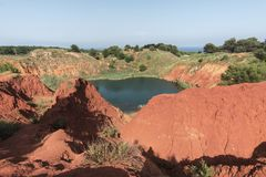 Bauxite cave - Otranto, South Italy stock photography