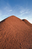 Bauxite hill at the sunset-Spinazzola-Italy Royalty Free Stock Photos