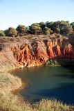 Bauxite Lake Cave. In Otranto, Italy Stock Photography