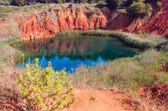 Bauxite Lake Cave near Otranto, Italy Royalty Free Stock Photography