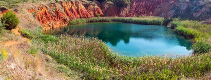 Bauxite Lake Cave near Otranto, Italy Stock Images