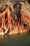 Bauxite Lake Cave. In Otranto, Italy Royalty Free Stock Images