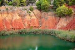 Bauxite mine lake landscape Stock Image