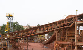 Bauxite mine Royalty Free Stock Images