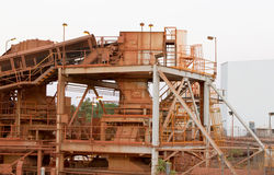 Bauxite mine Royalty Free Stock Photo